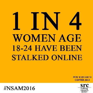 1 in 4 women age 18-24 have been stalked online
