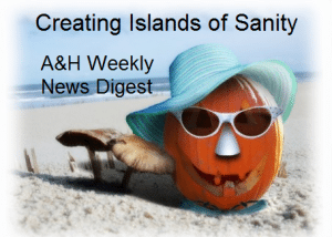 Halloween theme A&H Weekly News Digest flyer