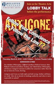 Antigone Discussion poster