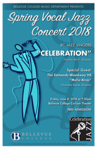 BC Jazz Singers Celebration flyer