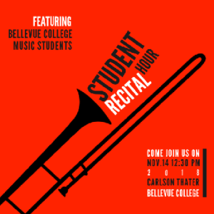 Student Recital Hour flyer